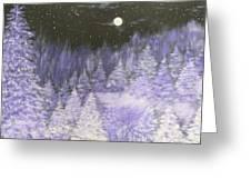 Silver Night  Greeting Card