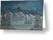 Silver Pine Valley Greeting Card