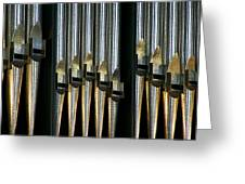 Silver Pipes Greeting Card