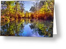 Silver River Colors Greeting Card by Christine Till