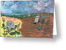 Silver Rose Greeting Card