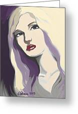 Silver Screen Glamour Girl. Greeting Card