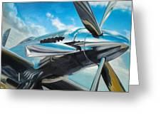 Silver Sky Plough Greeting Card by Riek  Jonker