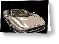 Silver Sports Car Greeting Card by Edward Fielding
