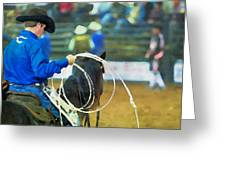 Silver Spurs Rodeo Outrider Greeting Card