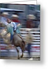 Silver State Stampede 2014 Happy Bronc Rider Greeting Card