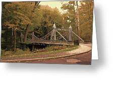 Silver Suspension Bridge Greeting Card