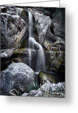 Silver Waterfall Greeting Card by Carlos Caetano