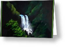 Silver Waterfall Greeting Card