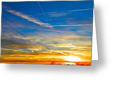 Silver Wing Sunset Greeting Card