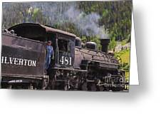 Silverton Engine 481 Greeting Card