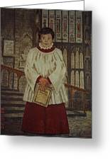 Simon - Winchester Cathedral Choral Scholar Greeting Card