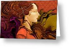 Simonetta Nouveau Greeting Card