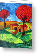 Simple Dreams Acrylic Painting Greeting Card