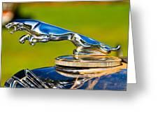 Simply Jaguar-front Emblem Greeting Card