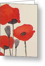 Simply Poppies 1 Greeting Card