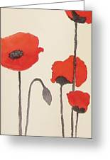 Simply Poppies 2. Greeting Card
