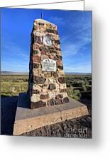 Simpson Springs Pony Express Station Monument - Utah Greeting Card