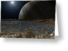 Simulated View From Europas Surface Greeting Card