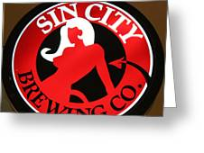 Sin City Brewing  Greeting Card