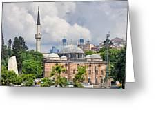 Sinan Pasha Mosque In Istanbul Greeting Card
