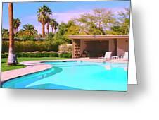 Sinatra Pool Cabana Palm Springs Greeting Card