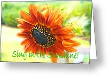 Sing In The Sunshine Greeting Card