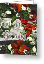Sing Joyfully Greeting Card