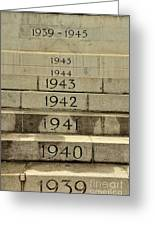 Singapore Cenotaph Monument Yearly Steps For World War Two Greeting Card