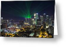 Singapore Central Business District Skyline Greeting Card