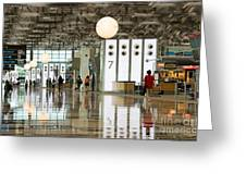 Singapore Changi Airport 02 Greeting Card by Rick Piper Photography
