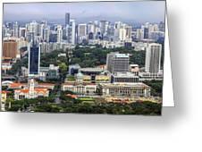 Singapore City Aerial View Greeting Card