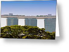 Singapore Marina Bay Sands And Skypark Greeting Card