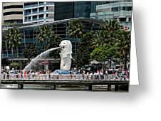 Singapore Merlion Park Greeting Card