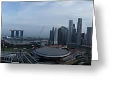 Singapore Skyline Greeting Card