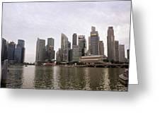 Singapore's Marina Bay Greeting Card