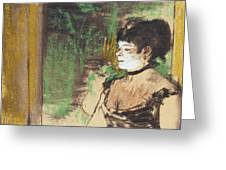 Singer In A Cafe Concert Greeting Card