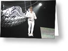 Singer Justin Bieber Greeting Card