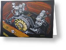 Singer Porsche Engine Greeting Card