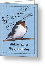 Singing Bird Birthday Card Greeting Card