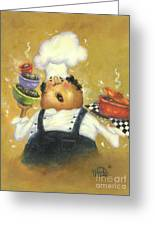 Singing Chef In Gold Greeting Card