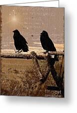 Singing Crows Greeting Card