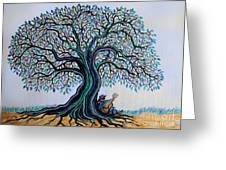 Singing Under The Blues Tree Greeting Card