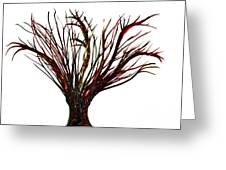 Single Bare Tree Isolated Greeting Card