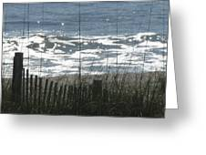 Single Dune Fence Greeting Card