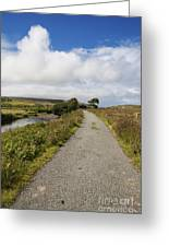 Single Track Road Greeting Card