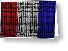 Singles In Red White And Blue Greeting Card
