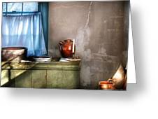 Sink - The Jug And The Window Greeting Card by Mike Savad