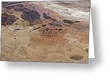 Sinkholes In Southern Dead Sea Area Greeting Card by Ofir Ben Tov