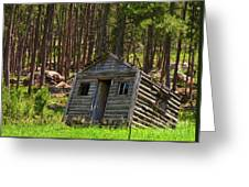 Sinking Cabin Greeting Card